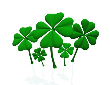 a group of green clover sheets Stock Photo - 9117597