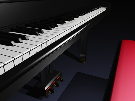 unfold: black piano by night
