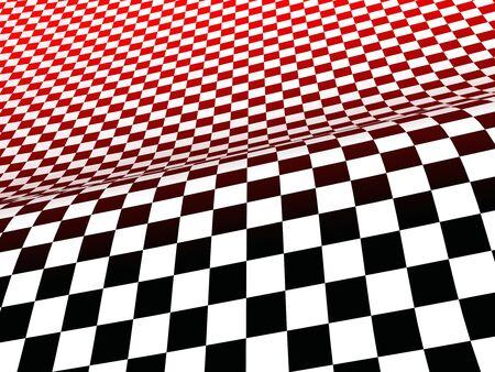 3d: 3D racing drapeau rouge noire blanc