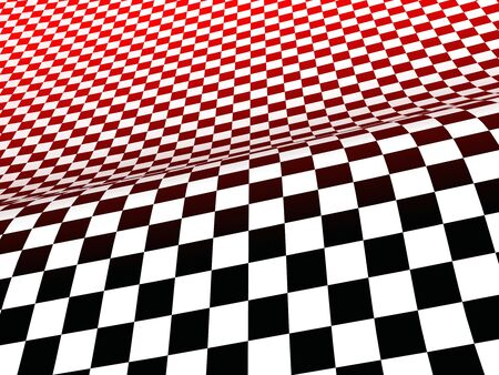 formula one racing: 3d racing flag red black white