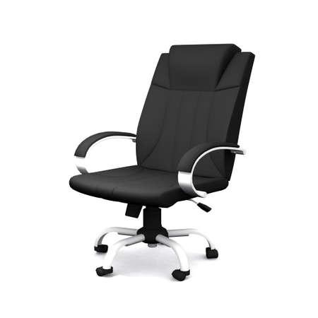 zwarte bureaustoel op witte achtergrond