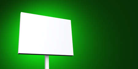 white poster on green background photo