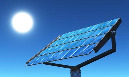 blue 3d solar cells photo