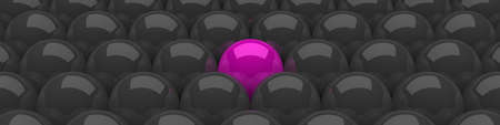 a group of balls black and pink Stock Photo - 9117446