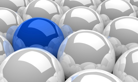 a group of balls white and blue photo