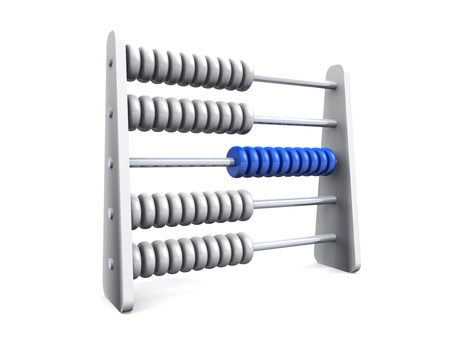 3D Abacus on white background Stock Photo - 9810548