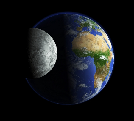 Our earth and the moon