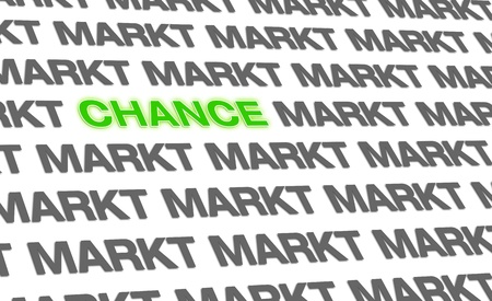 Business text-concept - the chance on the market photo