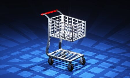 Shopping Cart lit - red black photo