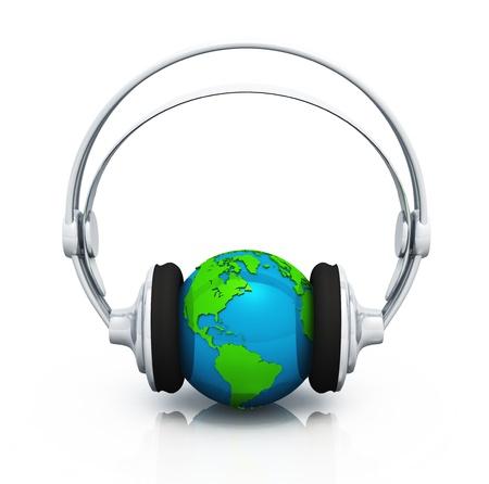 sound mixer: 3D - World Party sound - green blue silver