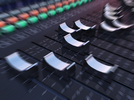 music production: Fast Track Mixer - The mixer Stock Photo