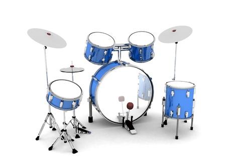 tambor: De color plateado azul tambores - lanzado 02 Foto de archivo
