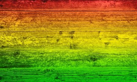 reggae: Fond planche de bois dans des couleurs reggae