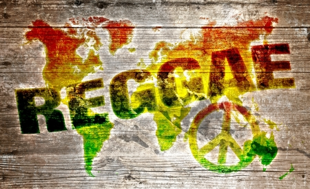 World reggae music concept for peace photo