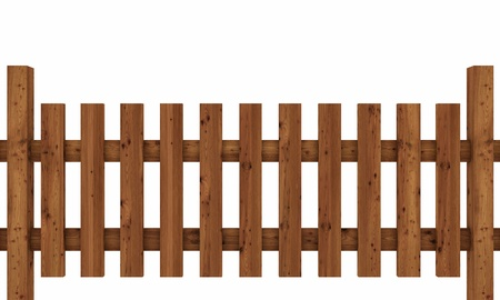 3D wooden fence - free dark brown 03 Stock Photo - 13818455