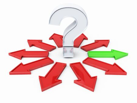 Question Mark Silver Red Green 02 Stock Photo - 13803215
