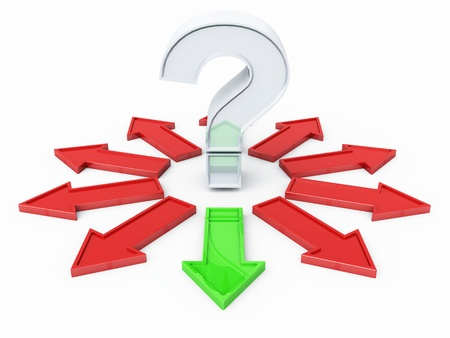 Question Mark Silver Red Green 03 Stock Photo - 13803197
