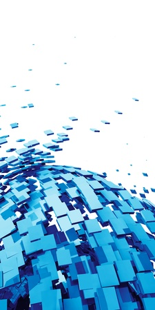 3D Background - Blue Cyberspace photo
