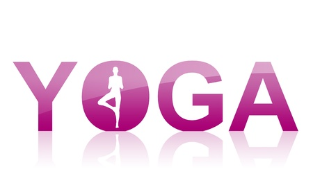 relaxation exercise: Yoga Logo Purple