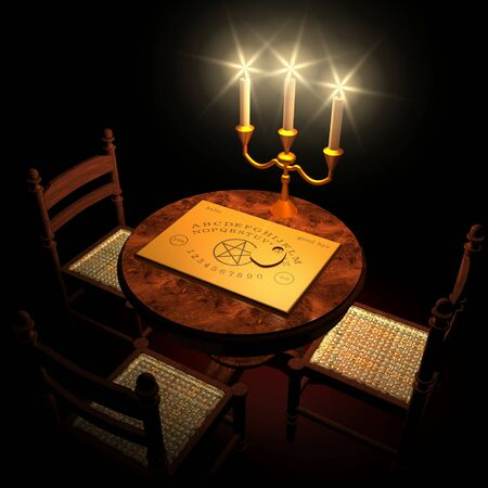 spirit medium: Witchboard channeling by candlelight 01