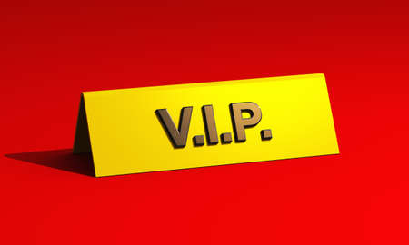 Premium VIP tag on red carpet photo