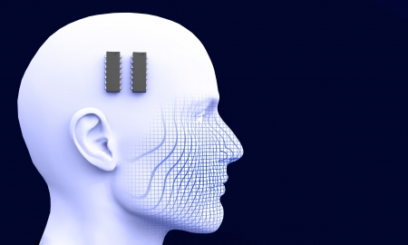 3D - ic brain pacemaker concept Stock Photo - 13821886