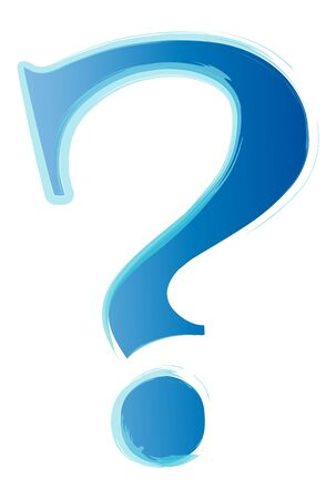 Abstract - blue question mark Stock Photo - 13821064
