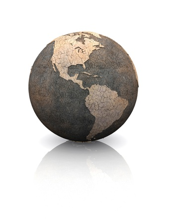 Dry earth concept - United States photo