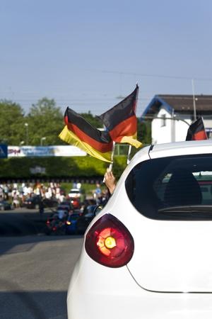 soccer wm: Germany motorcade  Stock Photo