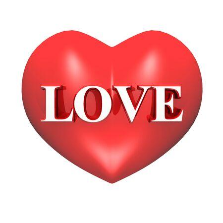 eroticism: 3D red heart - LOVE