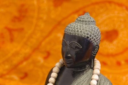 Zen Buddha Mala black with chain  photo