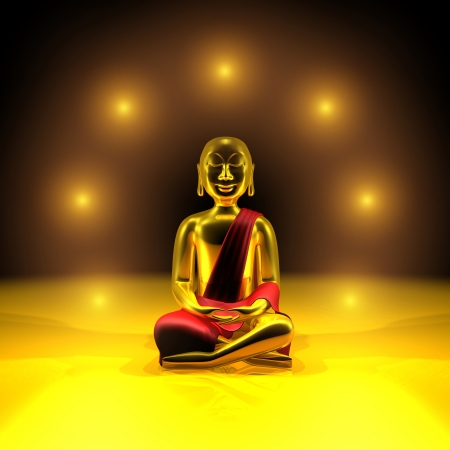 Seven lights of the Golden Buddha Stock Photo - 13822520