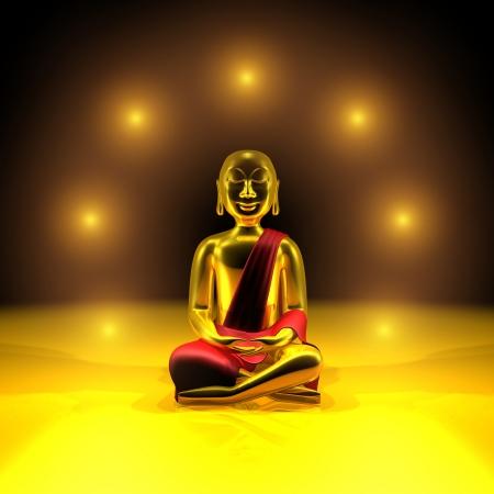 Seven lights of the Golden Buddha Stock Photo - 13822520