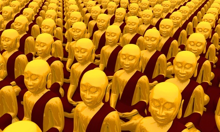 Buddha Conference - 01 Gold Red Stock Photo - 13823563