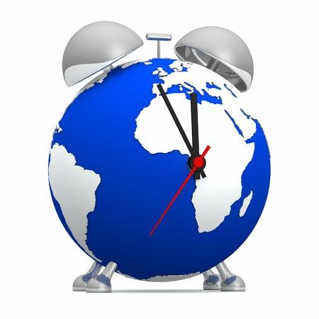dioxido de carbono: Globo Azul reloj de plata - de cinco a doce