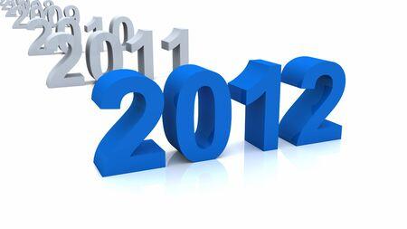 chronologie: Chronologie bleue 3D 2012