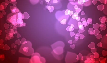 Pink of Hearts Bokeh photo