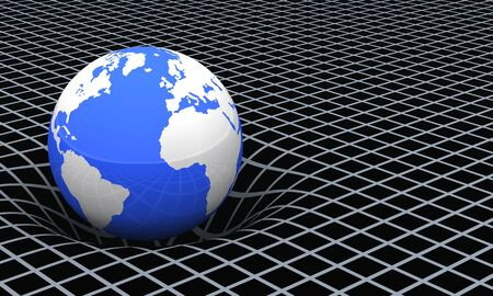curvature: The Earth - The space-time curvature