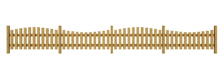 3D wooden fence - free light brown  photo