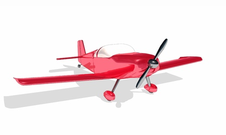 Clipart - Red Airplane photo