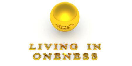 oneness: Golden Ball Unit� con il testo 3D 03