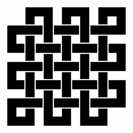 Square - Tibetan endless knot - Black and White Stock Photo - 13821403