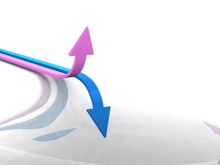 Arrow Concept - Blue Pink Stock Photo - 13820898
