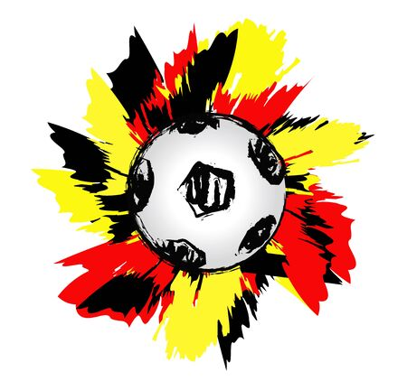 German soccer ball wave  Stock Photo