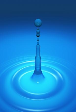 Magic Water Drops - Blue Cyan photo