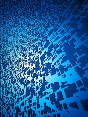 Blue Wave Matrix Background  photo