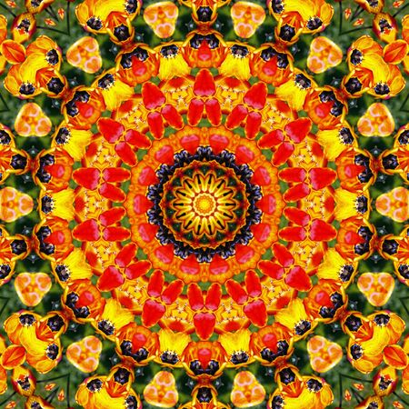 Flower Mandala  Stock Photo