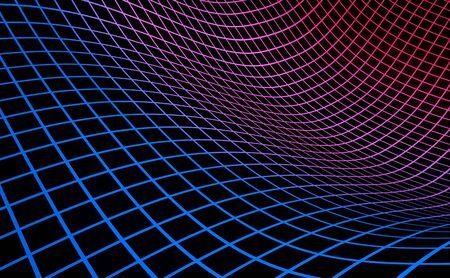 Grid achtergrond blauw rood op zwart