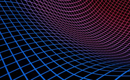 Grid background blue red on black