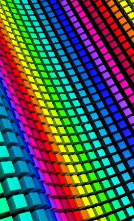 3D Cube - rainbow shaft  photo